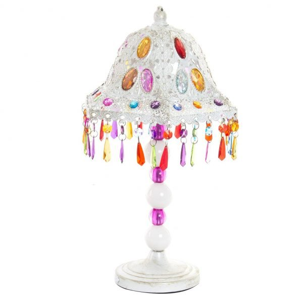 lampara abalorios
